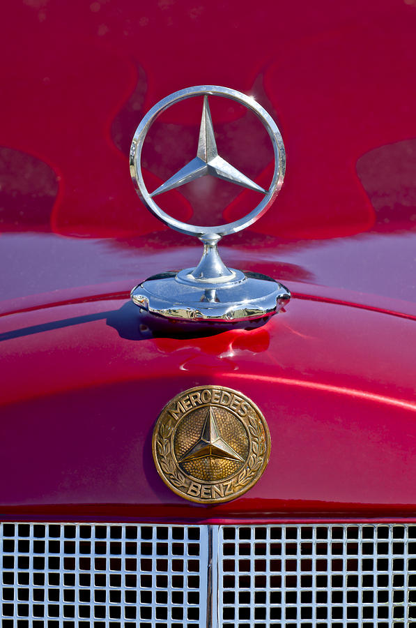 1953 mercedes benz hood ornament photograph by jill reger for Mercedes benz ornaments