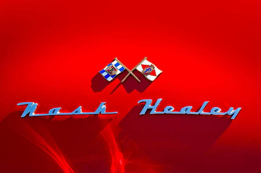 1953 Nash-healey Roadster Emblem Photograph  - 1953 Nash-healey Roadster Emblem Fine Art Print