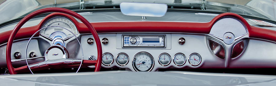 1954 Chevrolet Corvette Dashboard Photograph