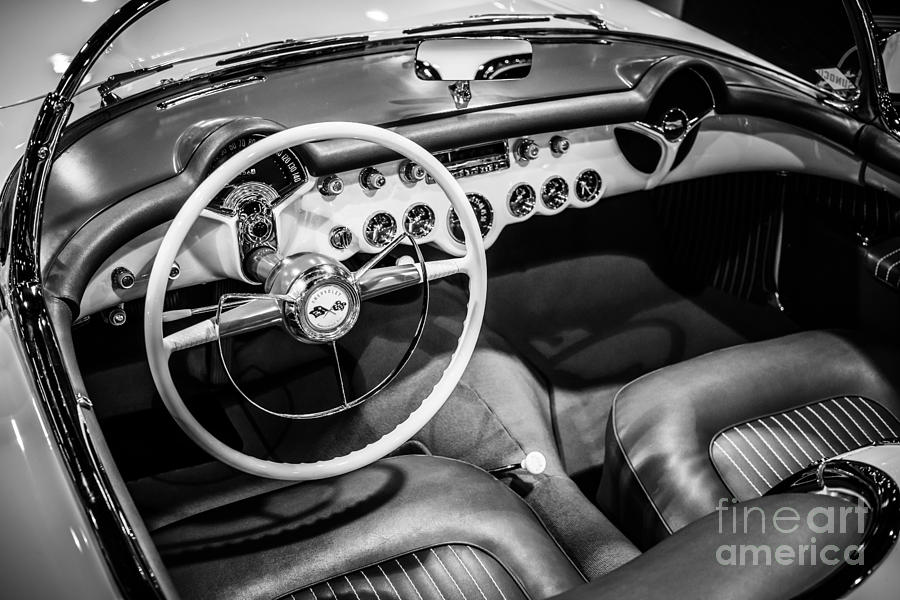 1950's Photograph - 1954 Chevrolet Corvette Interior by Paul Velgos