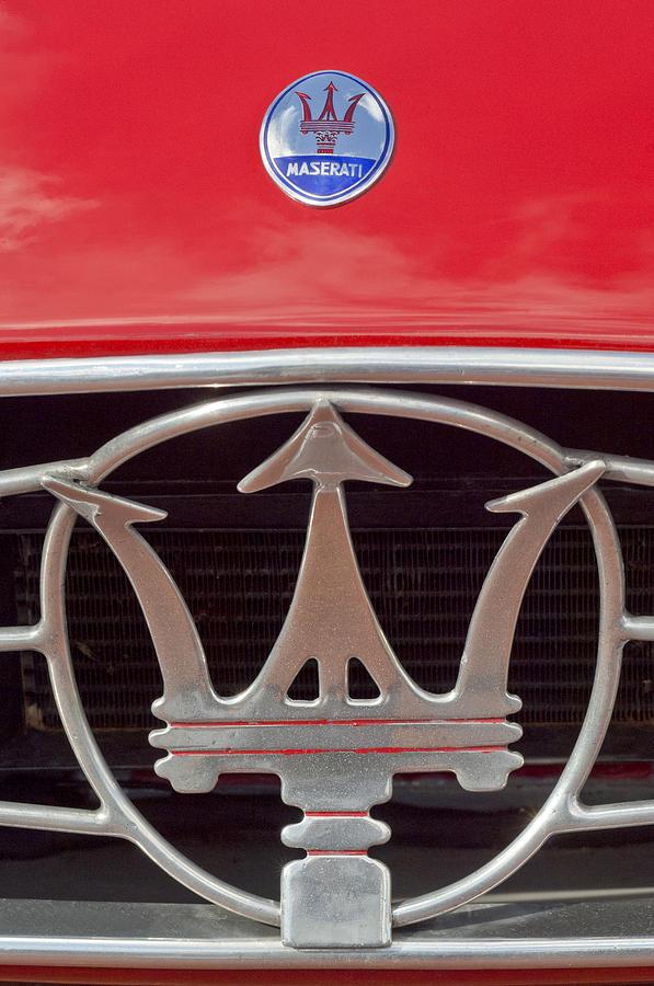 1954 Maserati A6 Gcs Emblem Photograph