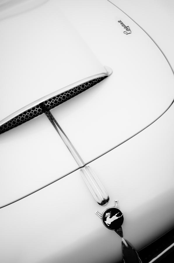 1954 Pegaso Z-102 Saoutchik Coupe Hood Emblem -0583bw Photograph