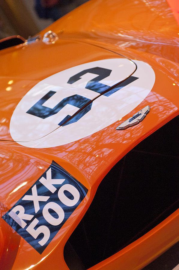 1955 Aston Martin Db3s Sports Racing Car Photograph - 1955 Aston Martin Db3s Sports Racing Car Hood by Jill Reger