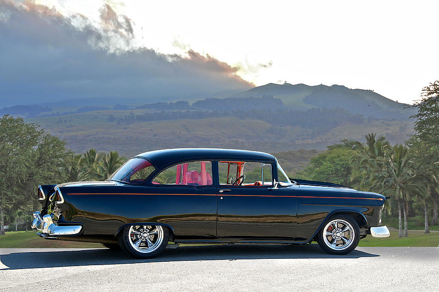 Auto Photograph - 1955 Chevrolet Custom Coupe by Dave Koontz