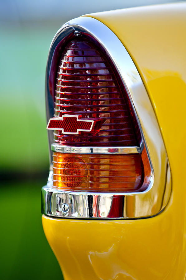 1955 Chevrolet Taillight Emblem Photograph - 1955 Chevrolet Taillight Emblem by Jill Reger