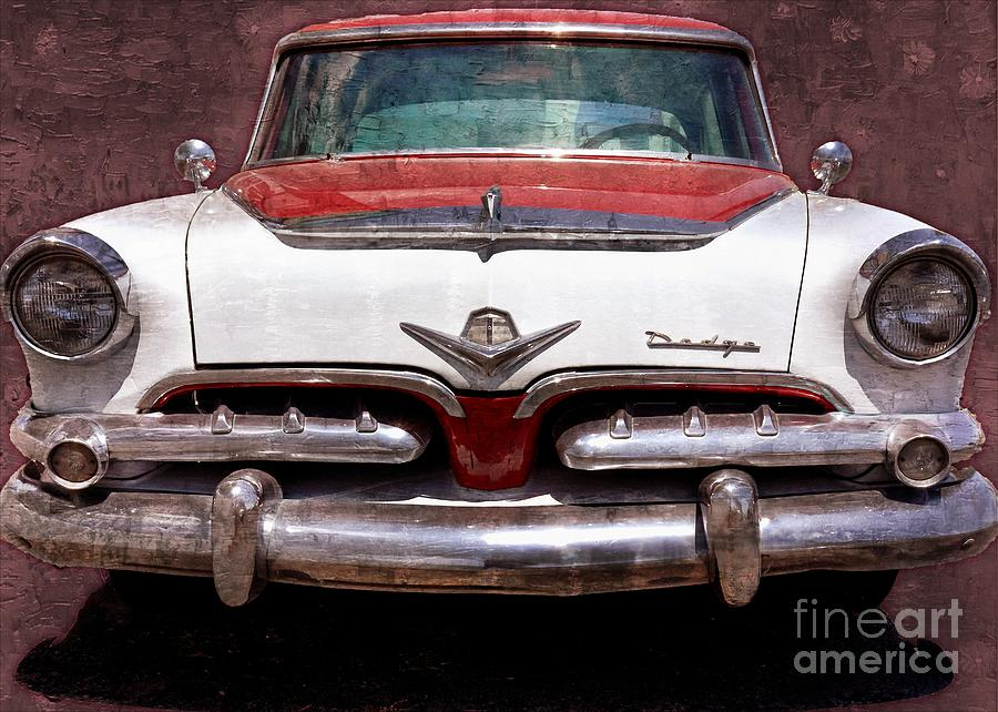 1955 Dodge In Oil Photograph  - 1955 Dodge In Oil Fine Art Print