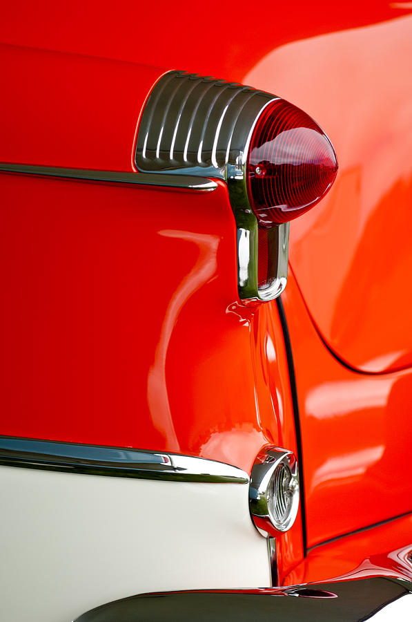 1955 Oldsmobile Photograph - 1955 Oldsmobile Taillight by Jill Reger