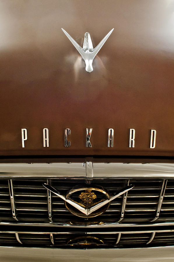 1955 Packard 400 Hood Ornament Photograph  - 1955 Packard 400 Hood Ornament Fine Art Print