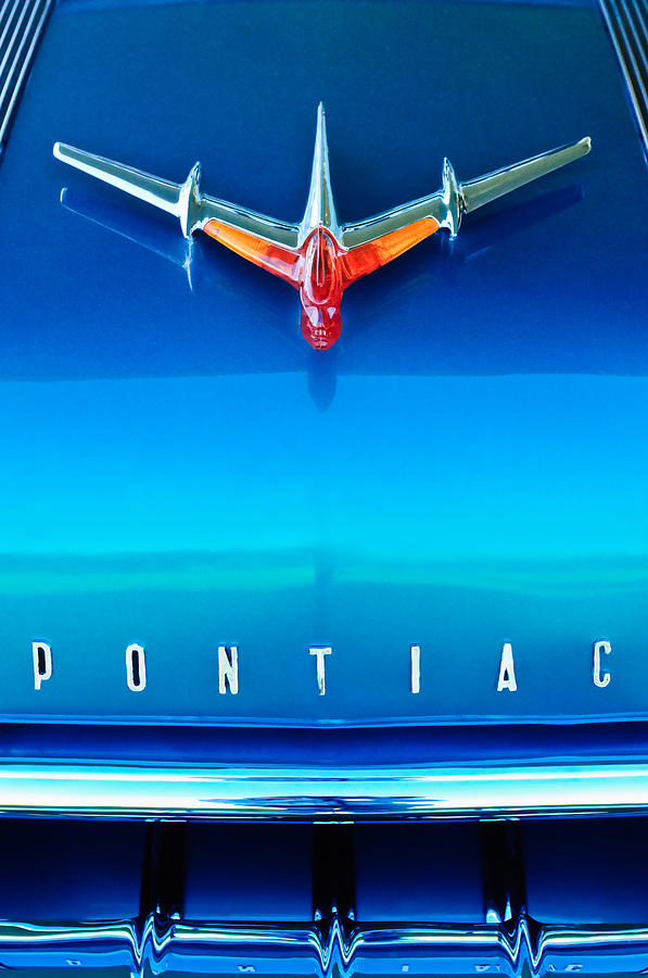 1955 Pontiac Safari Hood Ornament 4 Photograph  - 1955 Pontiac Safari Hood Ornament 4 Fine Art Print