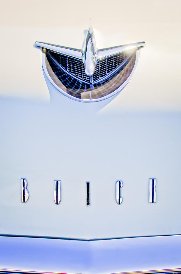 1956 Buick Special Photograph - 1956 Buick Special Hood Ornament by Jill Reger