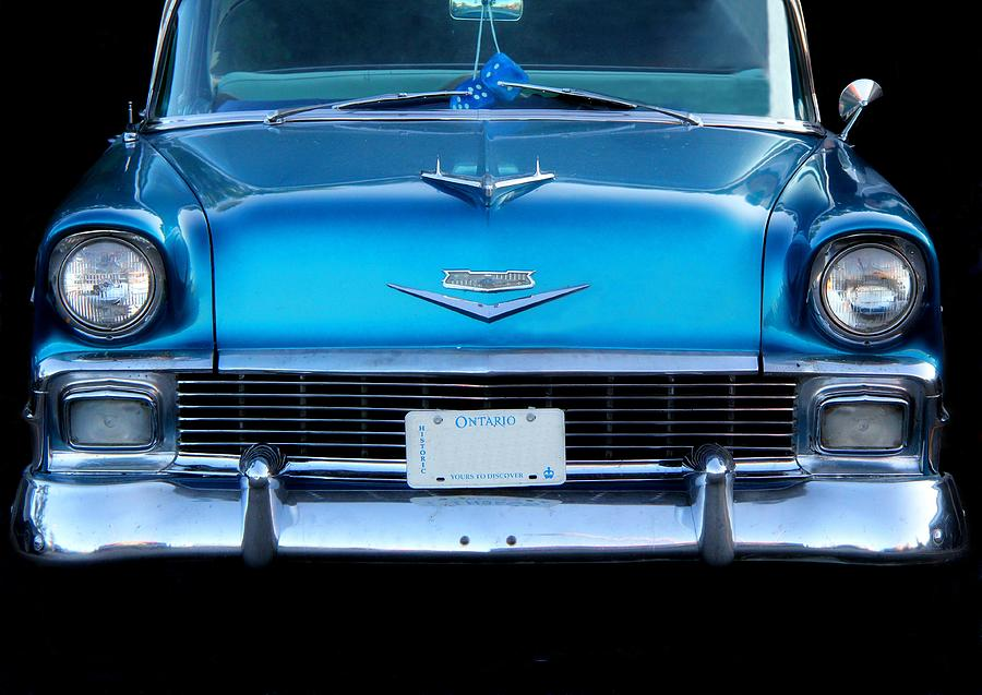 Cars Photograph - 1956 Cheverolet In Blue by Davandra Cribbie