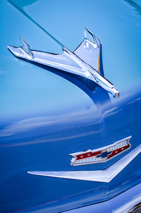 1956 Chevrolet 210 2-door Handyman Wagon Hood Ornament - Emblem Photograph