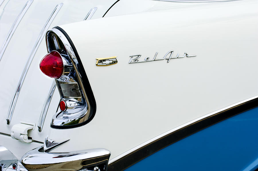 1956 Chevrolet Belair Tail Light Photograph  - 1956 Chevrolet Belair Tail Light Fine Art Print