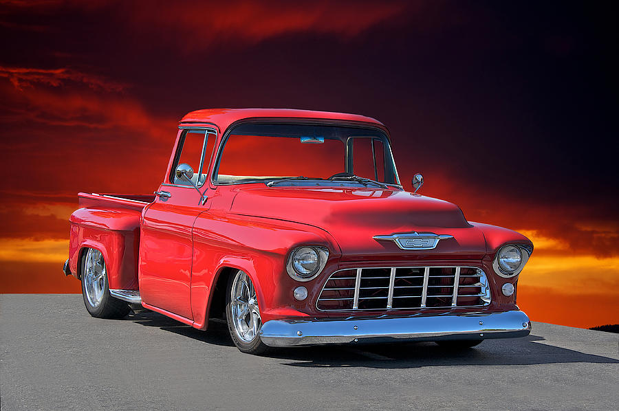 1956 Chevy Stepside Pick-up Photograph by Dave Koontz