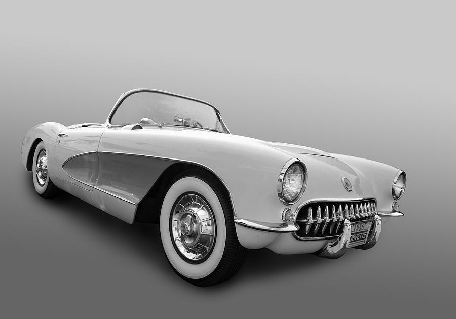 Chevy Photograph - 1956 Corvette by Bill Dutting