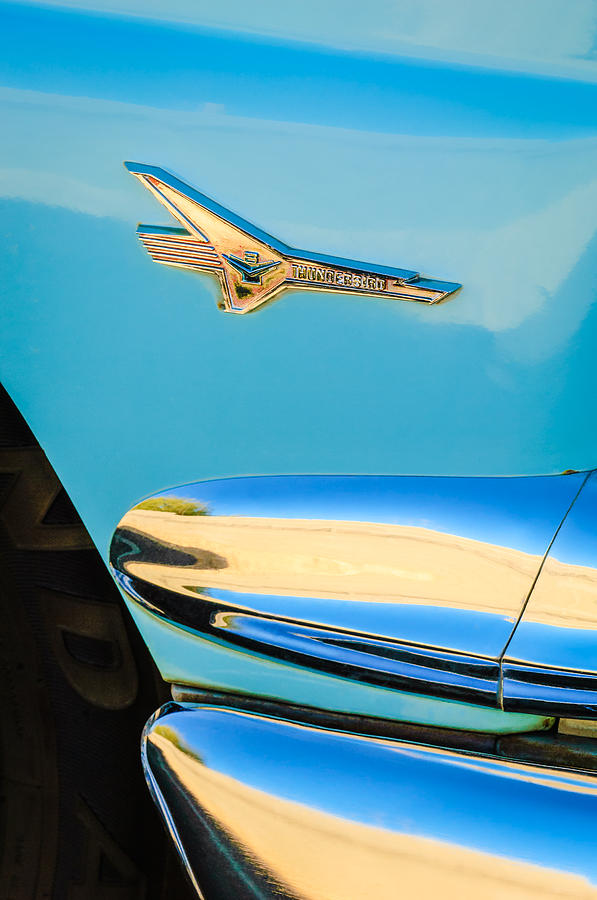 1956 Ford Fairlane Thunderbird Emblem Photograph