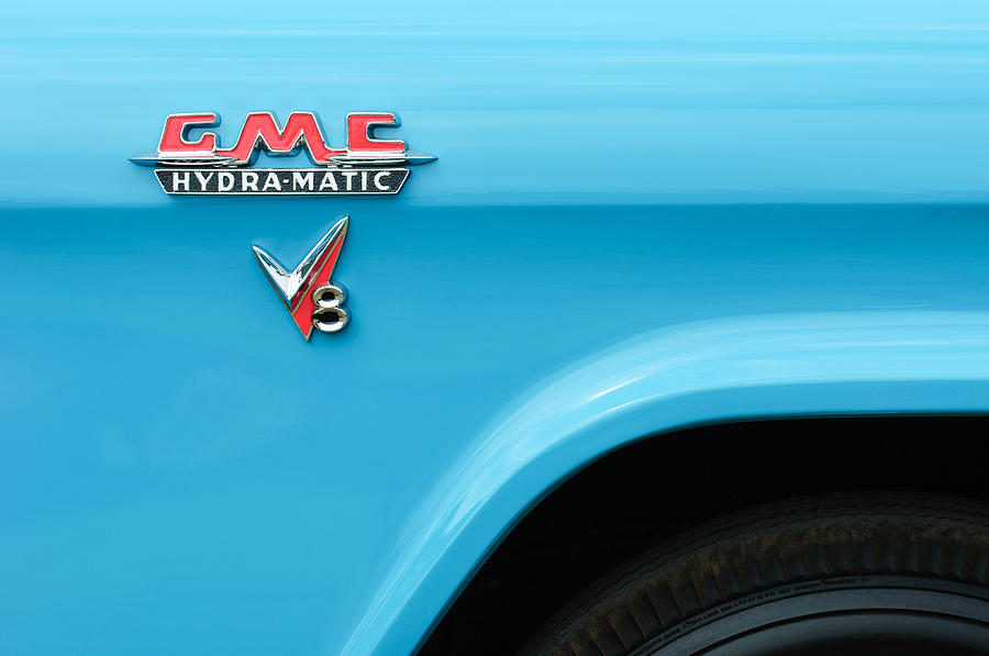 1956 Gmc 100 Deluxe Edition Pickup Truck Emblem Photograph
