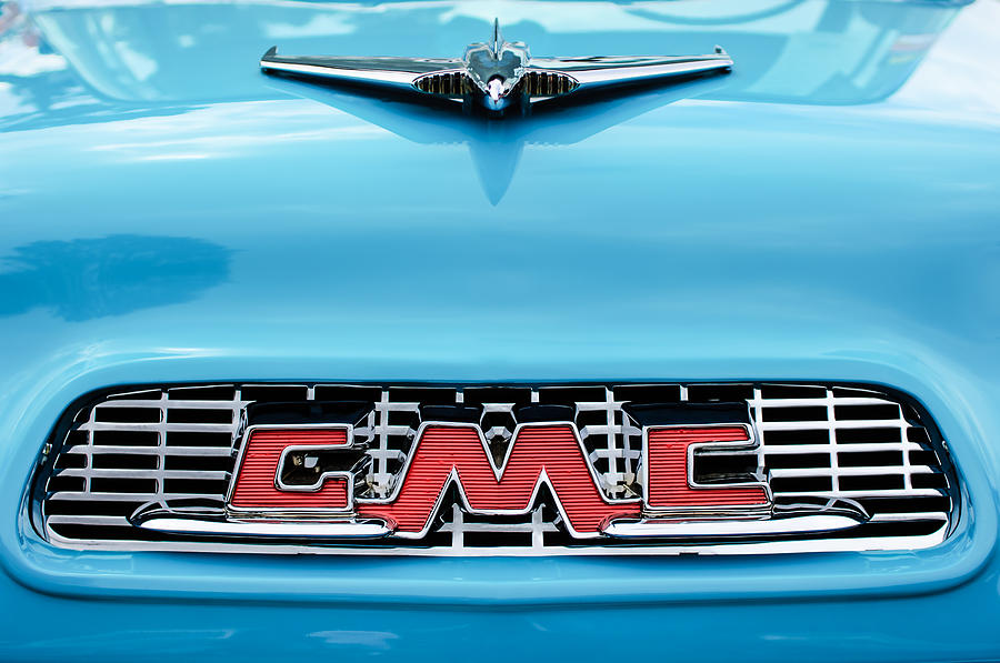 1956 Gmc 100 Deluxe Edition Pickup Truck Hood Ornament - Grille Emblem Photograph
