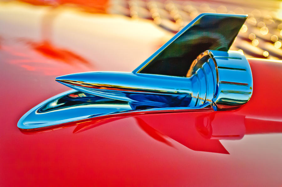 1957 Chevrolet Belair Hood Ornament Photograph  - 1957 Chevrolet Belair Hood Ornament Fine Art Print