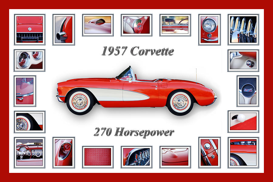 1957 Chevrolet Corvette Art Photograph