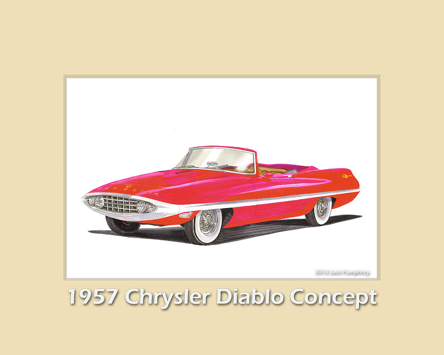 1957 Chrysler Diablo Convertible Coupe Painting