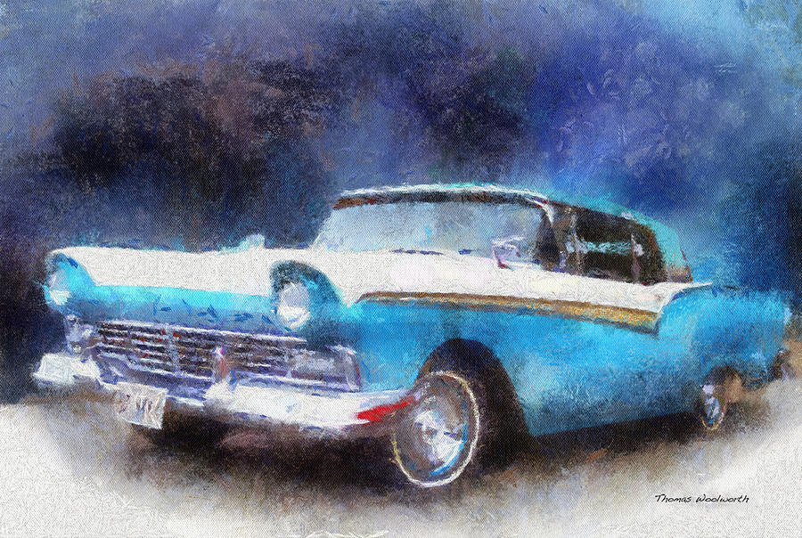 1957 Ford Classic Car Photo Art 02 Photograph  - 1957 Ford Classic Car Photo Art 02 Fine Art Print