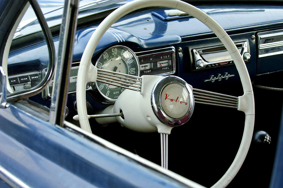 1957 Volvo Steering Wheel Photograph  - 1957 Volvo Steering Wheel Fine Art Print