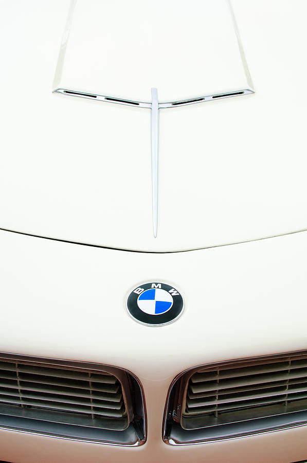 1958 Bmw 507 Roadster Hood Emblem Photograph