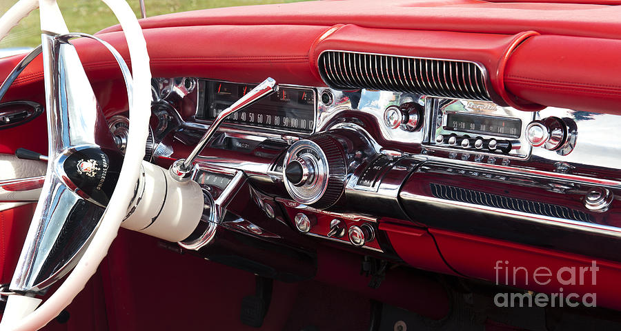 1958 Buick Special Dashboard Photograph By Tim Gainey
