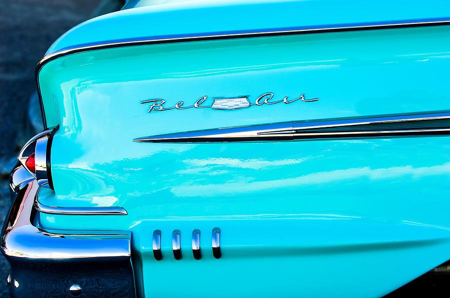 1958 Chevrolet Belair Tail Emblem Photograph