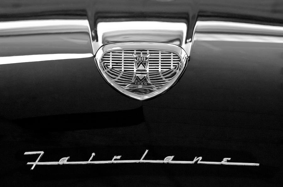 1958 Ford Fairlane 500 Victoria Hood Emblem Photograph
