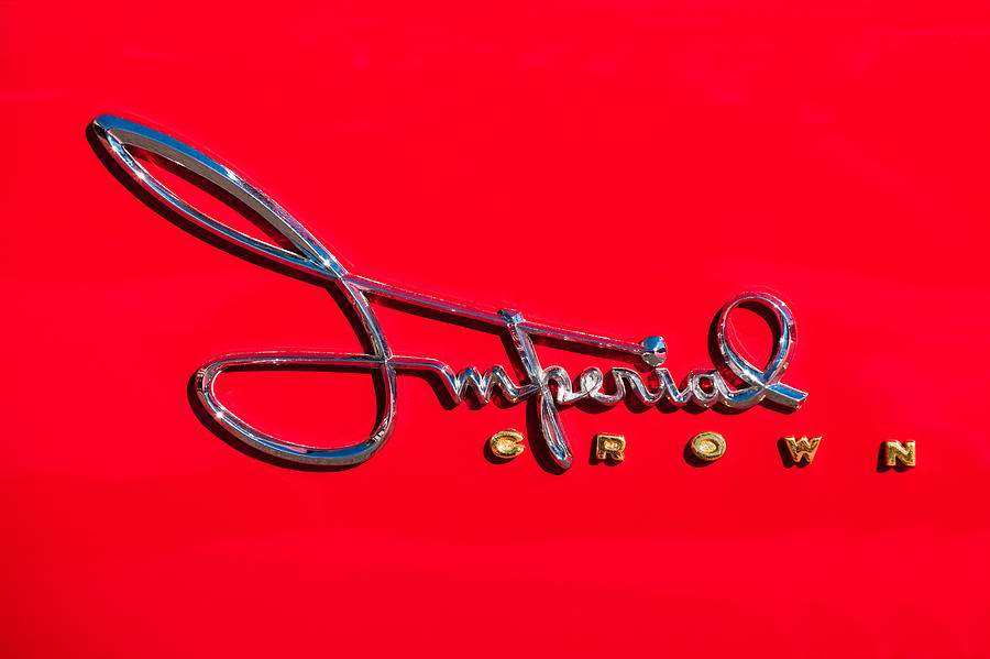 1958 Imperial Crown Convertible Emblem Photograph