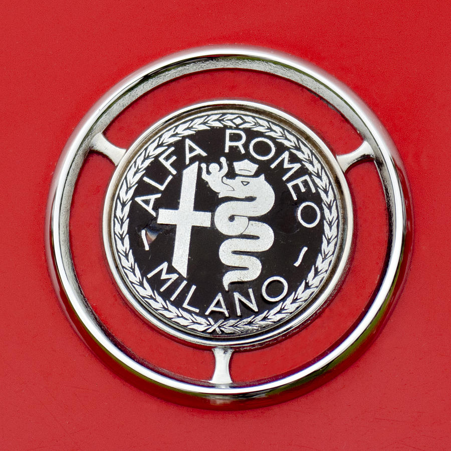 1959 Alfa-romeo Giulietta Sprint Emblem Photograph