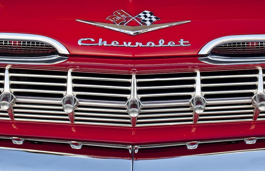 1959 Chevrolet Grille Ornament Photograph