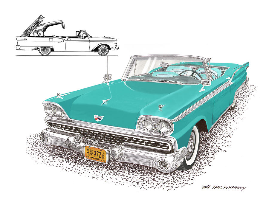 1959 Ford 500 Fairlane Retractable Hard Top Painting