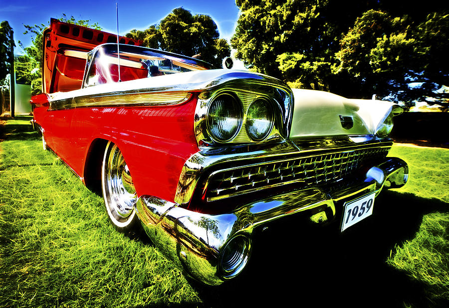1959 Ford Fairlane 500 Skyliner Photograph  - 1959 Ford Fairlane 500 Skyliner Fine Art Print