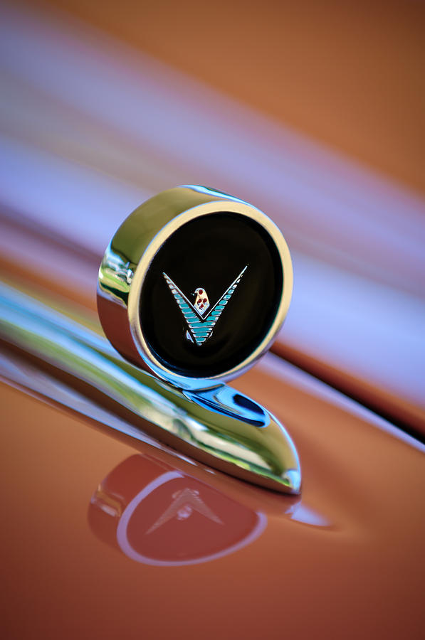 1959 Ford Thunderbird Convertible Hood Ornament Photograph