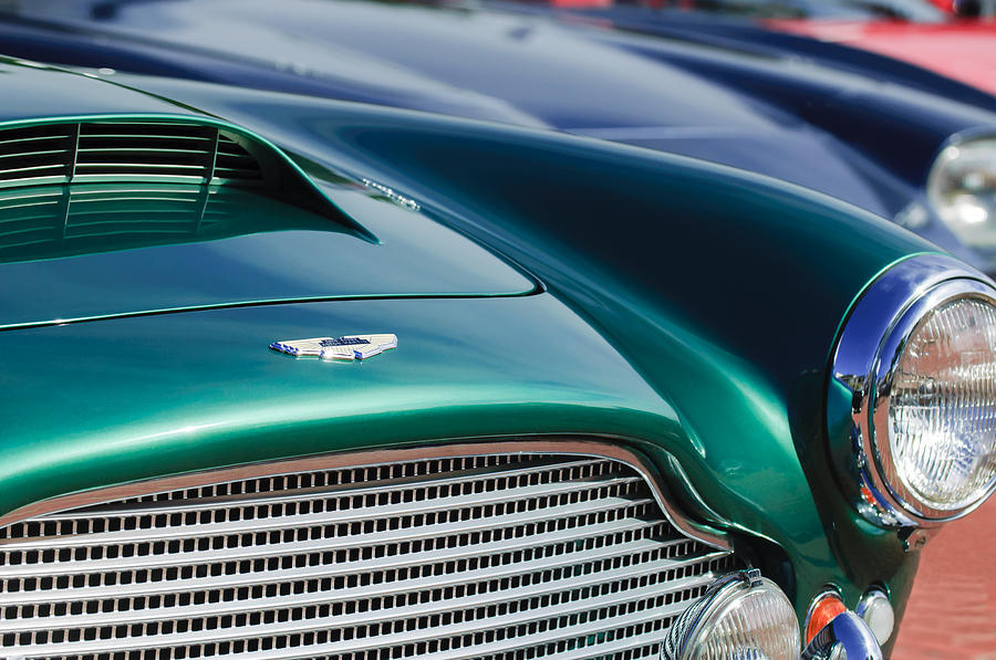 1960 Aston Martin Db4 Series II Grille - Hood Emblem Photograph