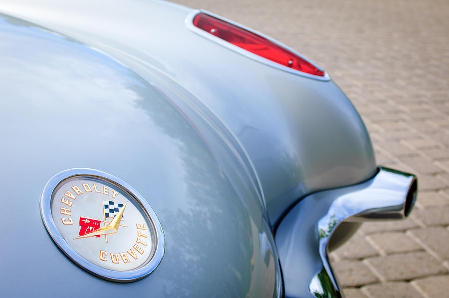 1960 Chevrolet Corvette Emblem - Taillight Photograph