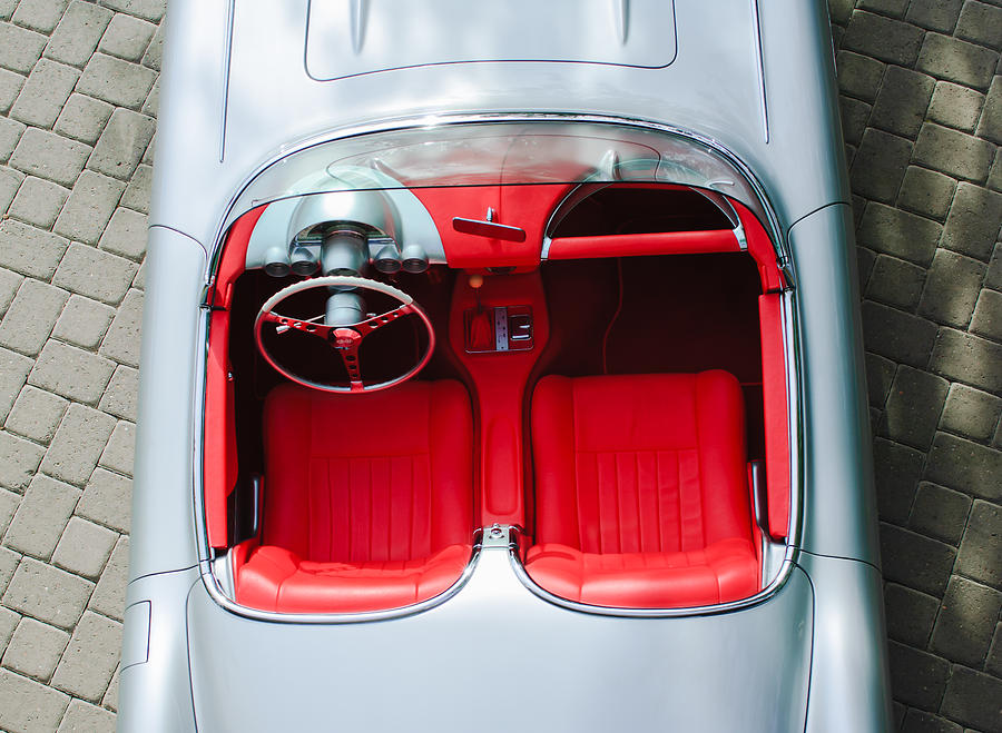 1960 Chevrolet Corvette Interior Photograph  - 1960 Chevrolet Corvette Interior Fine Art Print
