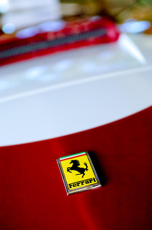 1960 Ferrari 250 Gt Swb Berlinetta Competizione Grille Emblem Photograph
