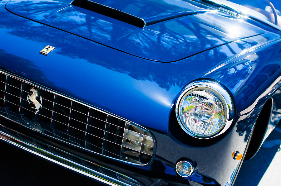 1960 Ferrari 250 Gtf Pinin Farina Cabriolet Series II Grille Emblem Photograph
