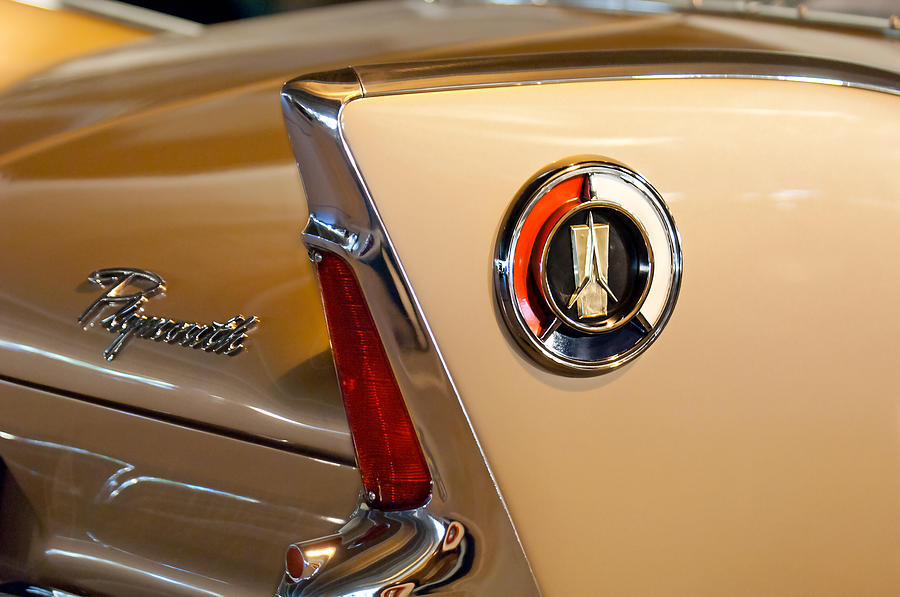 1960 Plymouth Fury Convertible Photograph - 1960 Plymouth Fury Convertible Taillight And Emblem by Jill Reger