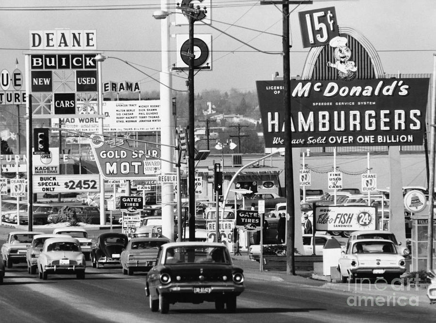 Historic Photograph - 1960s Denver Scene by Myron Wood