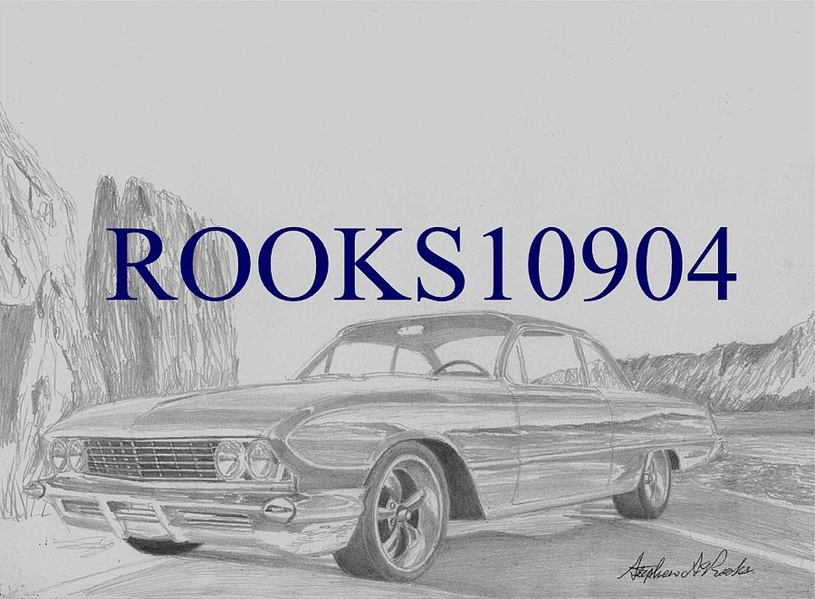 1961 Buick Lesabre Bubbletop Muscle Car Art Print Drawing