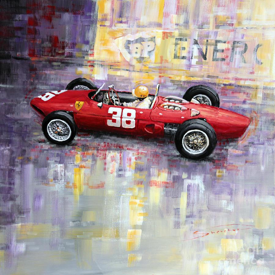 Acrilic On Canvas Painting - 1962 Ricardo Rodriguez Ferrari 156 by Yuriy Shevchuk