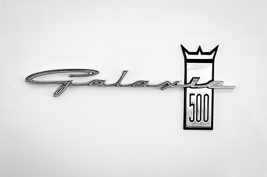 1963 Ford Galaxie 500 R-code Factory Lightweight Emblem Photograph  - 1963 Ford Galaxie 500 R-code Factory Lightweight Emblem Fine Art Print