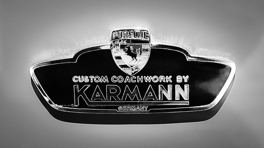 1963 Porsche 356 B 1600 Coupe By Karman Emblem Photograph