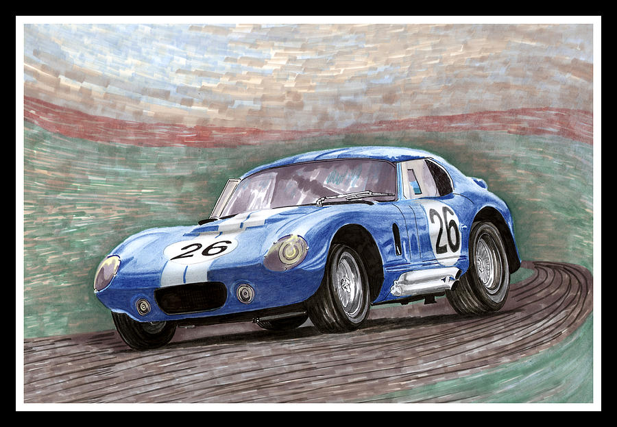 1964 Shelby Daytona Painting  - 1964 Shelby Daytona Fine Art Print