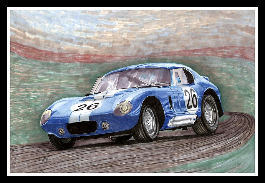 1964 Shelby Daytona Painting